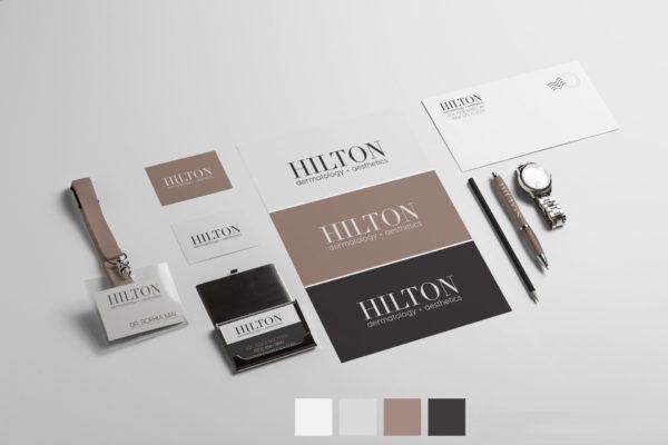 hillton dermatology logo design