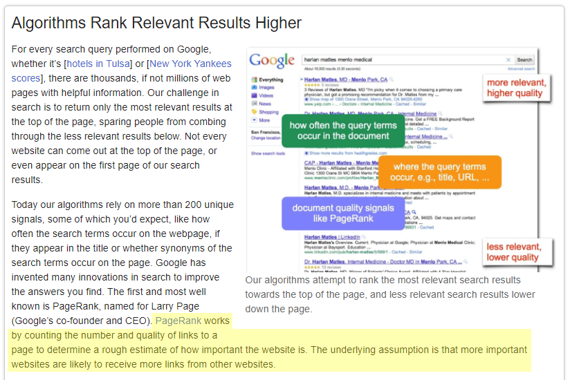 Google-Explanation-of-PageRank-and-why-backlinks-are-important-for-search-rankings