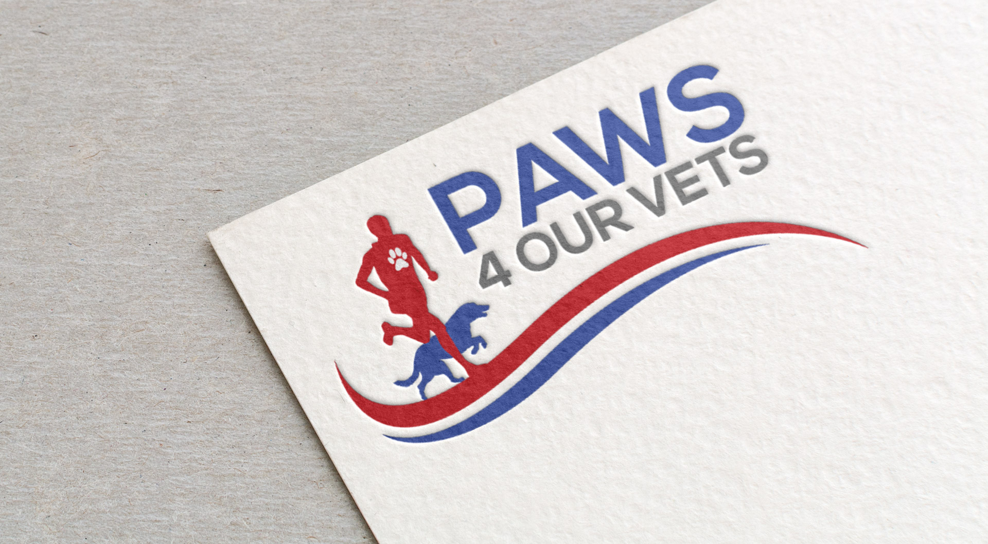 paws 4 our vets logo design