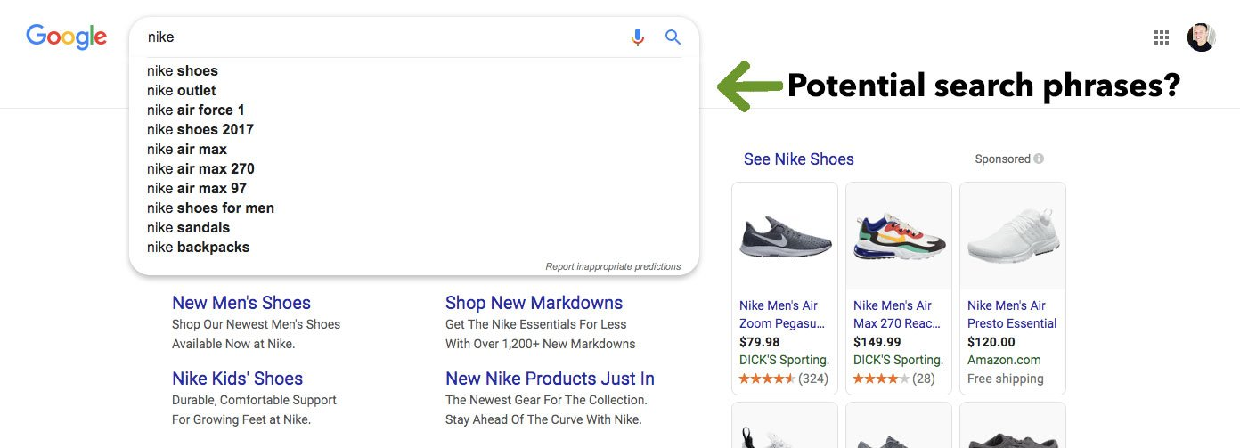 google suggestive search