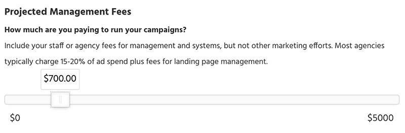 roas management fees